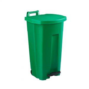 Poubelle de cuisine Haccp 90 litres corps vert couvercle vert